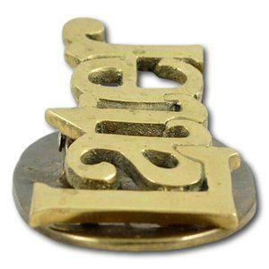 Vintage Brass Later Message Holder | Paper Clip